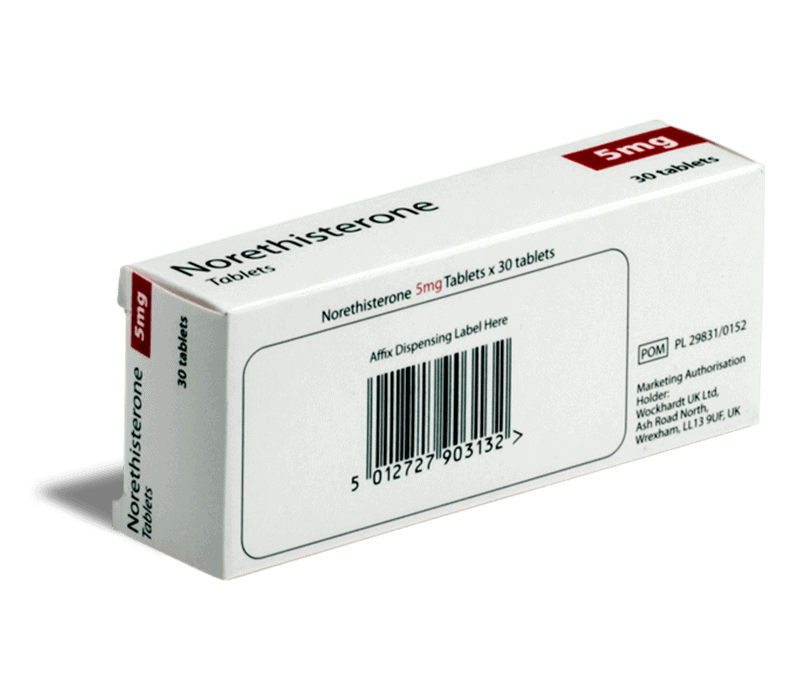 Norethisterone achterkant