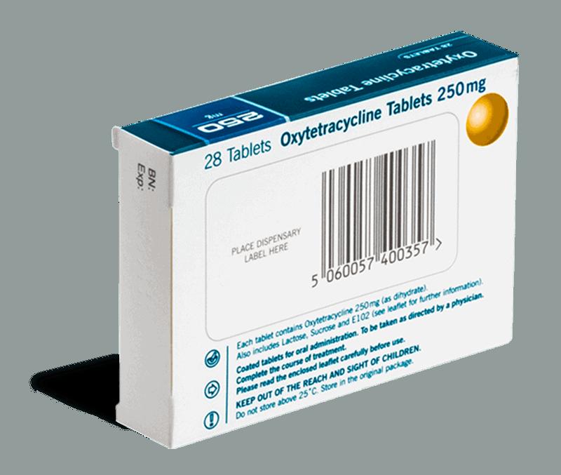 Oxytetracicline achterkant
