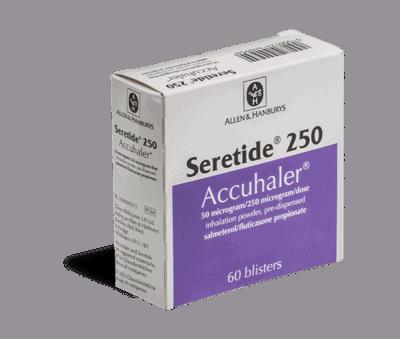 Seretide 250 50µg/250µg inhalator
